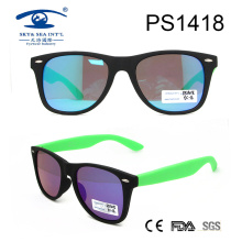 Hot Sale Famous Brands Light Color Plastic Sunglasses (PS1418)
